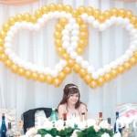 украшение шарами свадебного зала