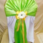 салатовые банты на стулья с декором