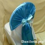 синие шапочки на стулья