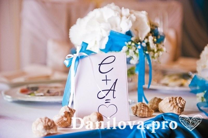 украшение свадебного стола карточкой с номером стола