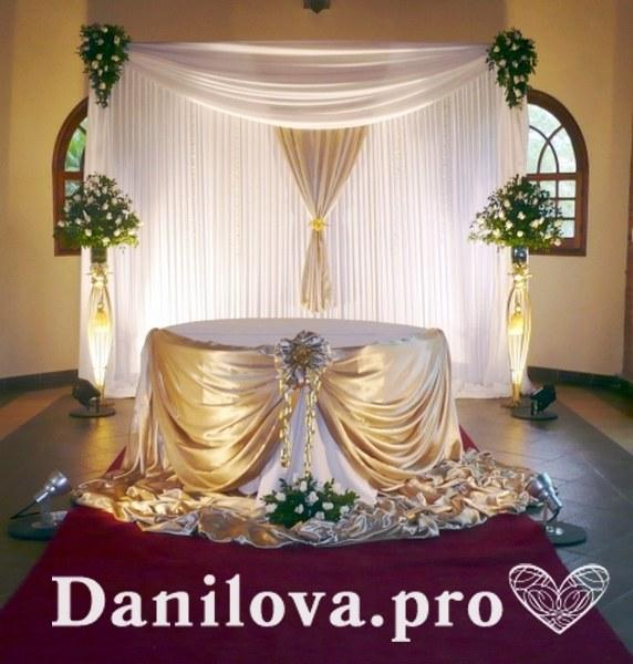 изысканное оформление задника на свадьбу